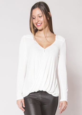 White Surplice Top - Trunk Up - 1