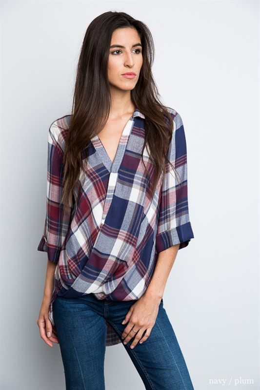 Woven Plaid Top Trunk Up