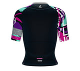 Scudopro Pro-Elite Short Sleeve Cycling Pro Fit Jersey 8 Bits Love for Women