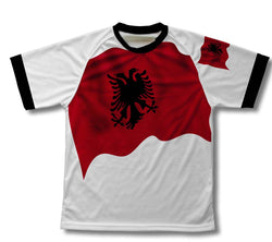 Albania Flag Technical T-Shirt for Men and Women