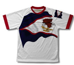 American Samoa Flag Technical T-Shirt for Men and Women