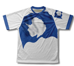 Antarctica Flag Technical T-Shirt for Men and Women