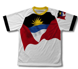 Antigua And Barbuda Flag Technical T-Shirt for Men and Women