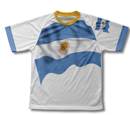 Argentina Flag Technical T-Shirt for Men and Women
