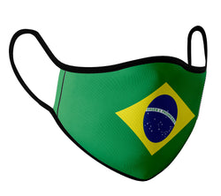 Brazil - Face Mask with fluid and moisture resistant fabric. Reusable and Washable