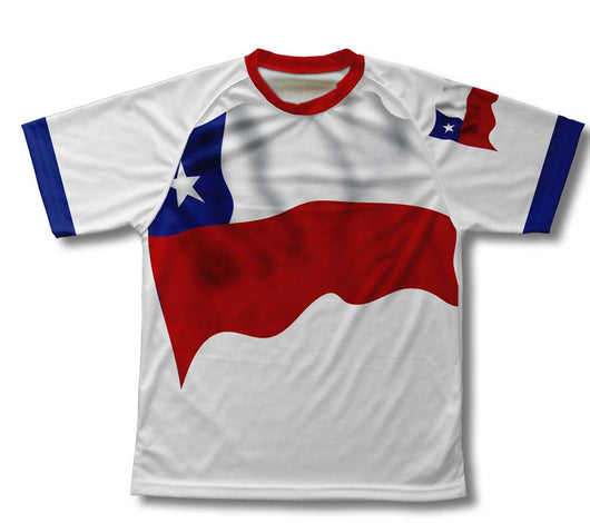 Chile Flag Technical T-Shirt for Men and Women