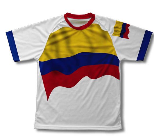 Colombia Flag Technical T-Shirt for Men and Women