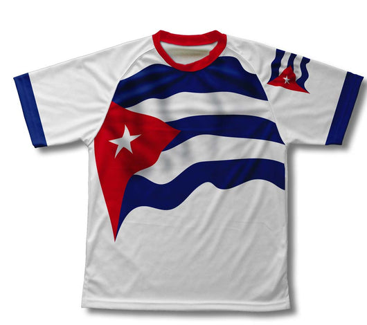Cuba Flag Technical T-Shirt for Men and Women