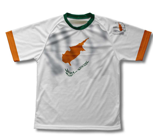 Cyprus Flag Technical T-Shirt for Men and Women