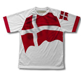 Denmark Flag Technical T-Shirt for Men and Women