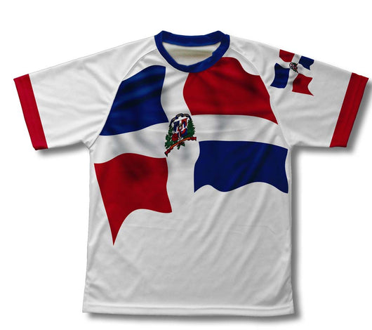 Dominican Republic Flag Technical T-Shirt for Men and Women