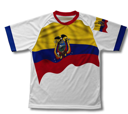 Ecuador Flag Technical T-Shirt for Men and Women