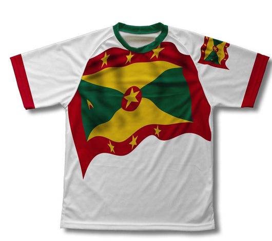 Grenada Flag Technical T-Shirt for Men and Women