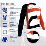 ScudoPro Pro Thermal Long Sleeve Cycling Jersey Iowa USA state Icon landmark identity  | Men and Women