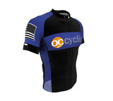 OCC | PRO-Fit | Short Sleeve Cycling Jersey BLUE 2019 | Full Front zip | Tour Fabric | Reflectives | Back pocket zip | Flat Stitch | Bands | Men and Women