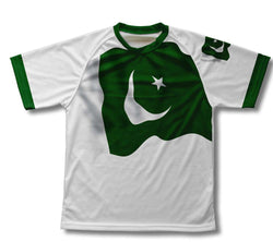 Pakistan Flag Technical T-Shirt for Men and Women