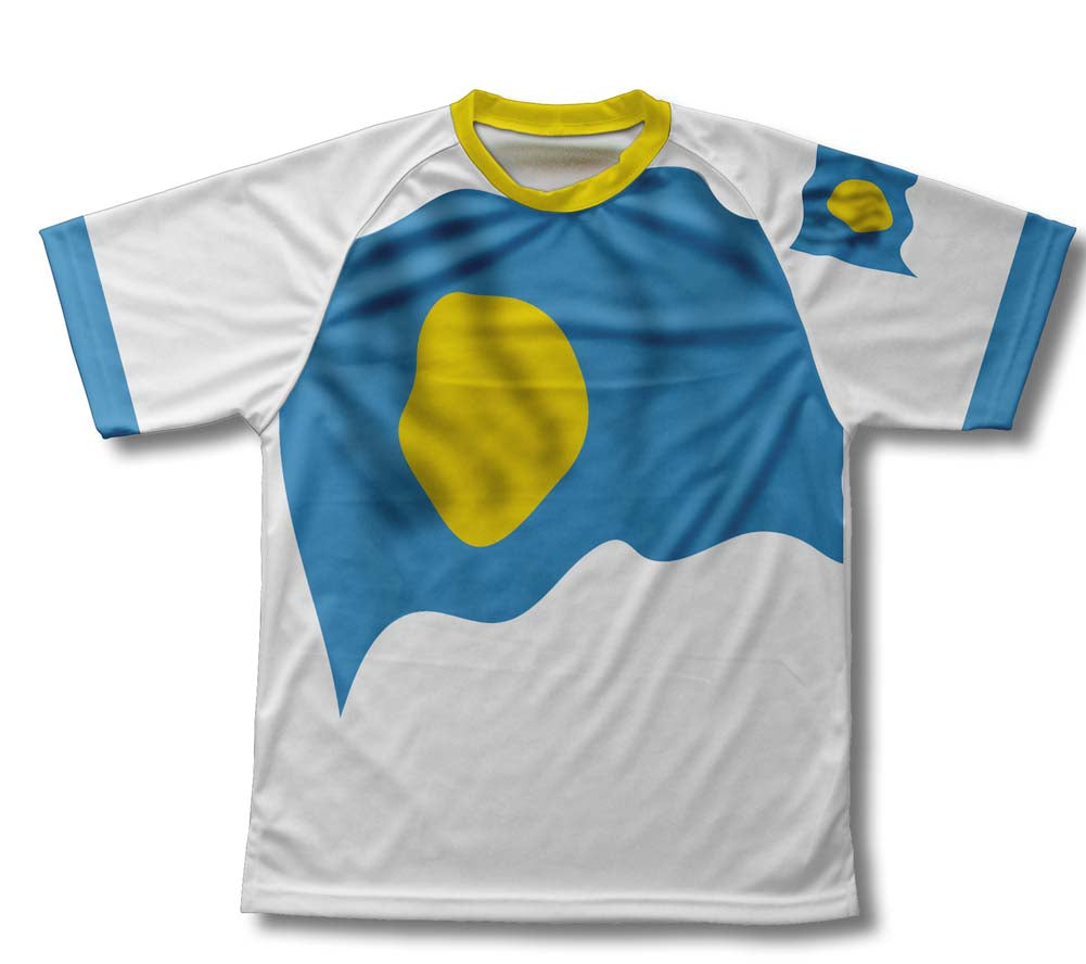 Palau Flag Technical T-Shirt for Men and Women