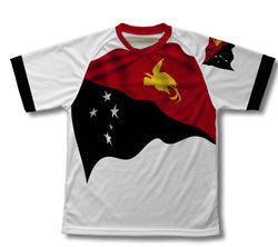 Papua New Guinea Flag Technical T-Shirt for Men and Women