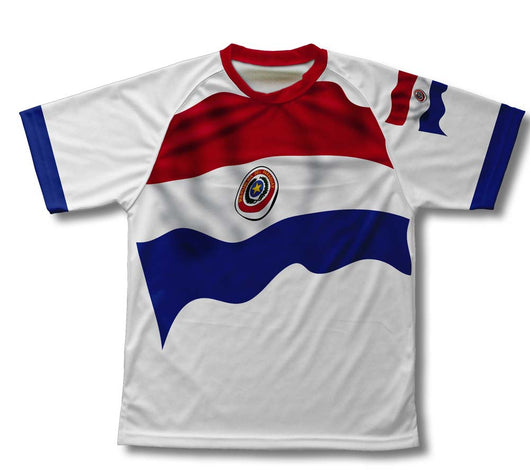Paraguay Flag Technical T-Shirt for Men and Women