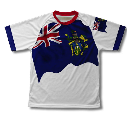 Pitcairn Islands Flag Technical T-Shirt for Men and Women