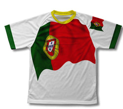 Portugal Flag Technical T-Shirt for Men and Women