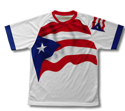 Puerto Rico Flag Technical T-Shirt for Men and Women