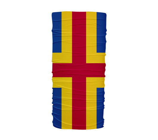 Aland Islands Flag Multifunctional UV Protection Headband