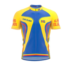 Aland Islands Full Zipper Bike Short Sleeve Cycling Jersey