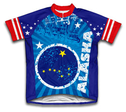 Alaska Short Sleeve Cycling Jersey for Men and Women