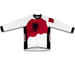 Albania Flag Winter Thermal Cycling Jersey