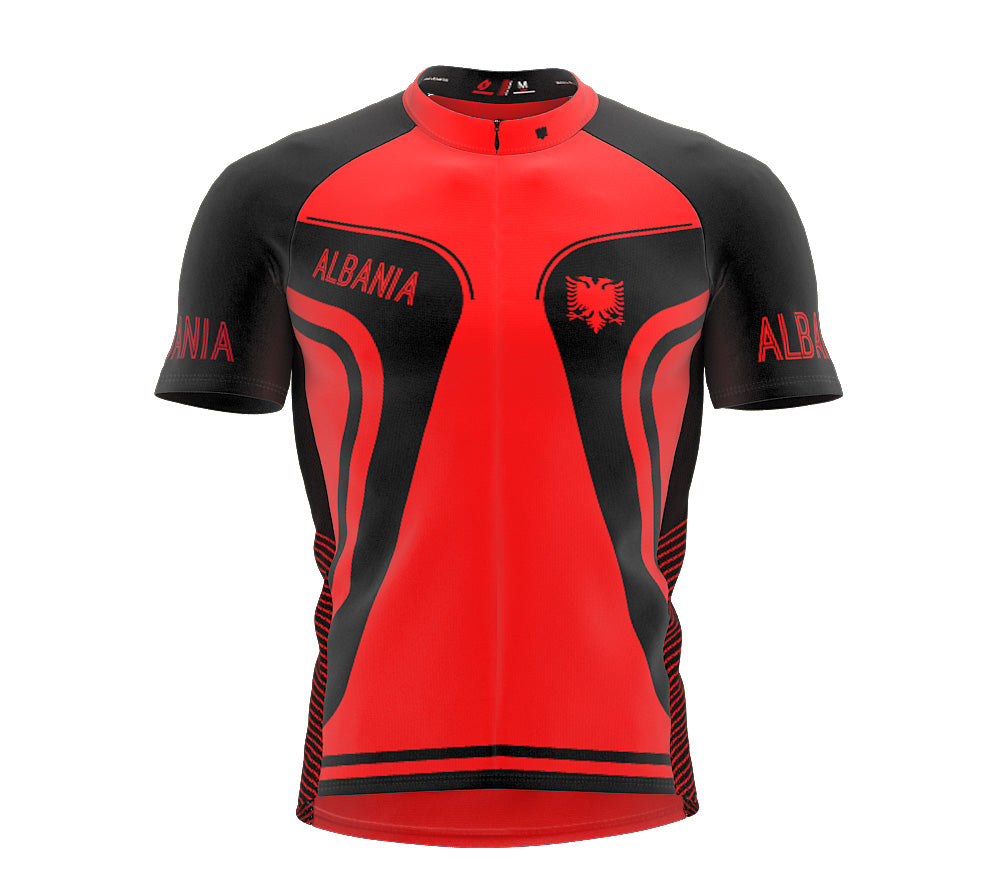 Albania  Full Zipper Bike Short Sleeve Cycling Jersey