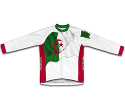 Algeria Flag Winter Thermal Cycling Jersey