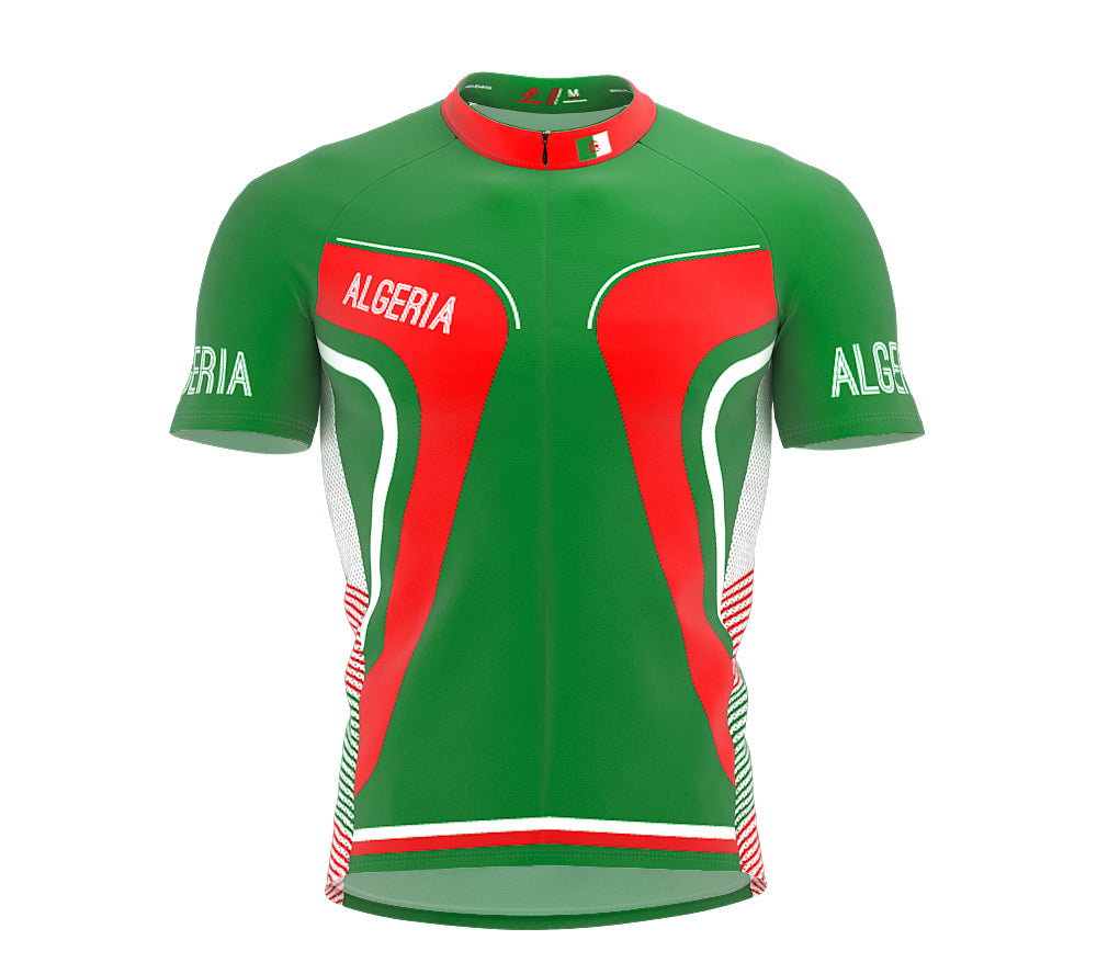 Algeria  Full Zipper Bike Short Sleeve Cycling Jersey