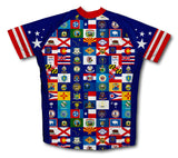 American Pride Short Sleeve Cycling Jersey for Men and Women