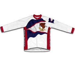 American Samoa Flag Winter Thermal Cycling Jersey