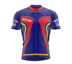 American Samoa  Full Zipper Bike Short Sleeve Cycling Jersey