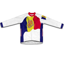 Andorra Flag Winter Thermal Cycling Jersey