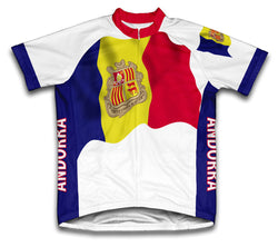 Andorra Flag Cycling Jersey for Men and Women