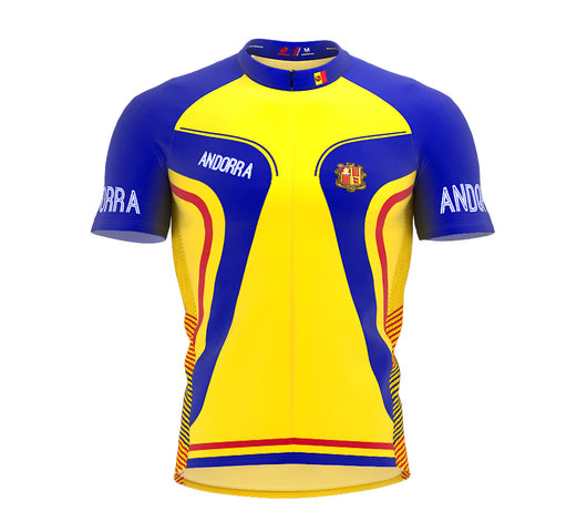 Andorra  Full Zipper Bike Short Sleeve Cycling Jersey