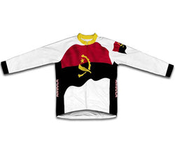 Angola Flag Winter Thermal Cycling Jersey