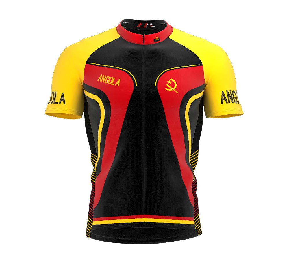 Angola  Full Zipper Bike Short Sleeve Cycling Jersey