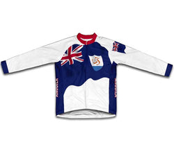 Anguilla Flag Winter Thermal Cycling Jersey