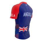 Anguilla  Full Zipper Bike Short Sleeve Cycling Jersey