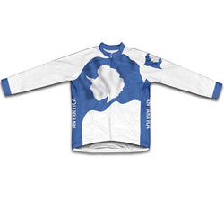 Antarctica Flag Winter Thermal Cycling Jersey
