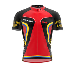 Antigua And Barbuda  Full Zipper Bike Short Sleeve Cycling Jersey