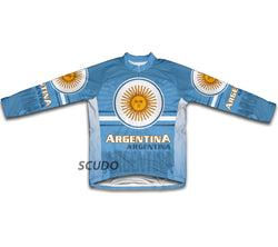 Argentina Flag Winter Thermal Cycling Jersey