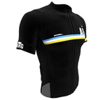 Argentina Black CODE Short Sleeve Cycling PRO Jersey for Men and Women