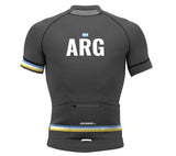 Argentina Gray CODE Short Sleeve Cycling PRO Jersey for Men and Women