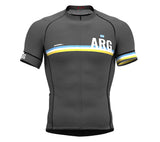 Argentina Gray CODE Short Sleeve Cycling PRO Jersey for Men and WomenArgentina Gray CODE Short Sleeve Cycling PRO Jersey for Men and Women