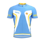 Argentina  Full Zipper Bike Short Sleeve Cycling Jersey